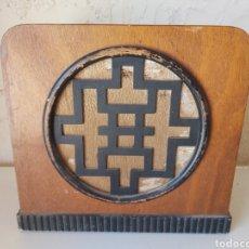 Radios antiguas: ANTIGUO ALTAVOZ DE MADERA. Lote 212104268