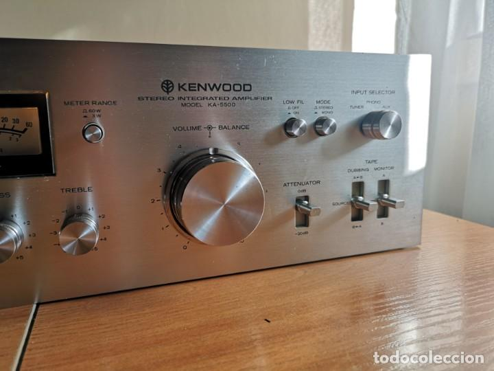 Radios antiguas: amplificador audio epoca dorada KENWOOD KA-5500 - Foto 6 - 212487078