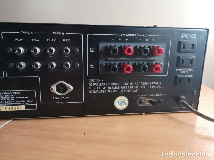 Radios antiguas: amplificador audio epoca dorada KENWOOD KA-5500 - Foto 9 - 212487078