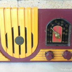 Rádios antigos: RADIO DISEÑO VINTAGE MARCA: DOREX - PUBLICIDAD CONDAL FORMULARIOS - FUNCIONANDO - 14 CM. Lote 212557681
