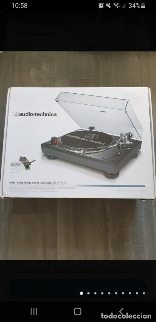 PLATO AUDIO-TECHNICA MODELO AT-LP120BK USBHS10 (Radios, Gramófonos, Grabadoras y Otros - Transistores, Pick-ups y Otros)