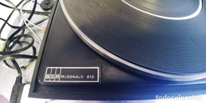 Radios antiguas: tocadiscos vieta uno bsr mc donald 610,funciona perfectamente,recoger en madrid o mandar agencia - Foto 6 - 213733325