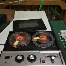 Radios Anciennes: SANYO MOD. MR-115 MAGNETOFONO MAGNETOFON BOBINAS PORTATIL FUNCIONANDO AÑOS 60 FUNDA PIEL. Lote 214869308