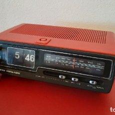 Radios antiguas: RADIO DESPERTADOR VINTAGE SANYO RM2320 RM 2320 5320 RETRO SPAGE AGE DIGITAL CLOCK FLIP FLAP VOLCADO. Lote 215275470
