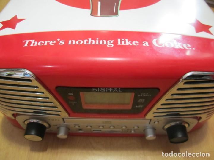 TOCADISCOS RADIO USB CD COCA COLA (Radios, Gramófonos, Grabadoras y Otros - Transistores, Pick-ups y Otros)
