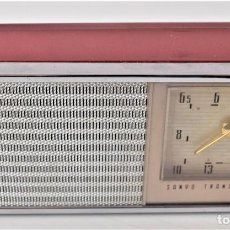Radios antiguas: RADIO SANYO TRANSISTOR DELUXE MODEL 6C-11 CON FUNDA Y AURICULAR - TODO ORIGINAL AÑOS 50. Lote 238804140