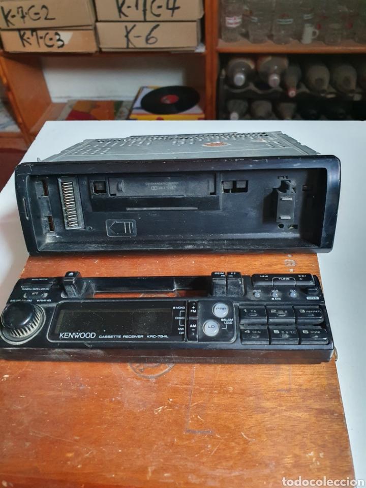 Radios antiguas: Radio cassette, kenwood, krc-754l, frontal extraible, sin probar. - Foto 4 - 216955845