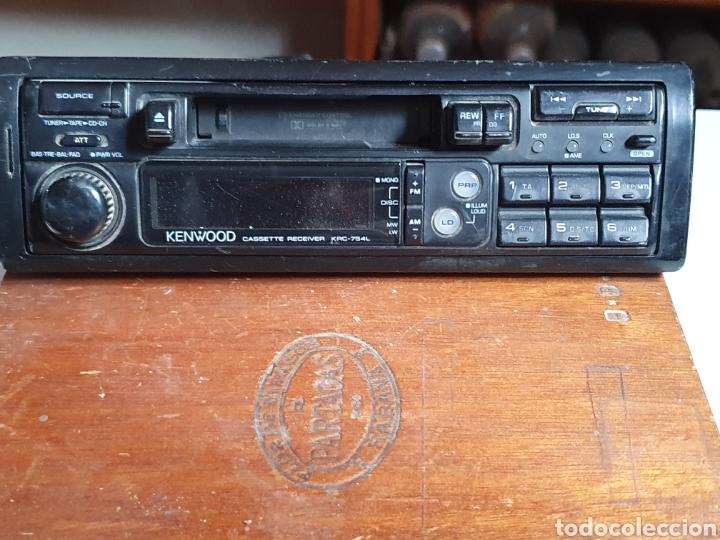 RADIO CASSETTE, KENWOOD, KRC-754L, FRONTAL EXTRAIBLE, SIN PROBAR. (Radios, Gramófonos, Grabadoras y Otros - Transistores, Pick-ups y Otros)