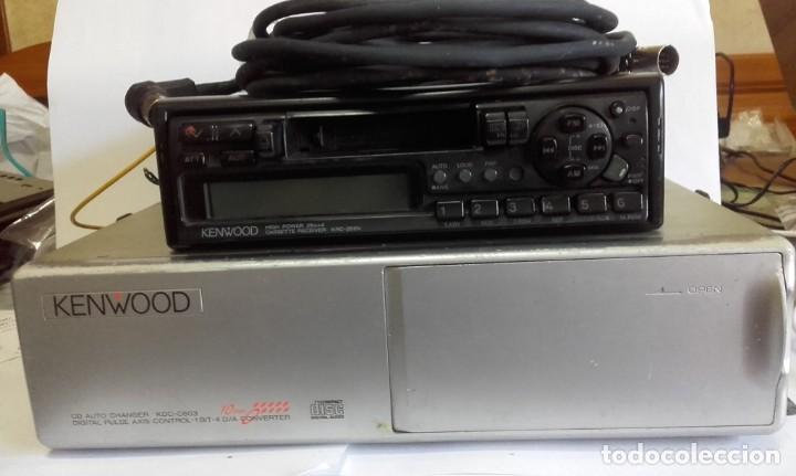 EQUIPO PARA AUTOMOVIL KENWOOD. 25 W. X 4. CON RADIO CASSETTE Y CARGADOR PARA 10 CD (Radios, Gramófonos, Grabadoras y Otros - Transistores, Pick-ups y Otros)