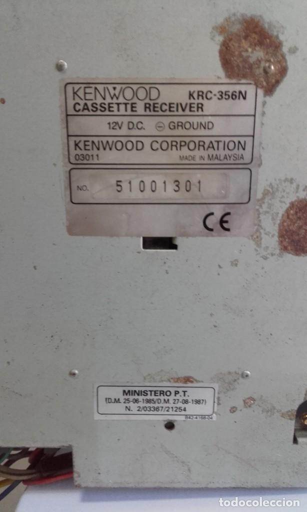 Radios antiguas: EQUIPO PARA AUTOMOVIL KENWOOD. 25 W. X 4. CON RADIO CASSETTE Y CARGADOR PARA 10 CD - Foto 10 - 217091050