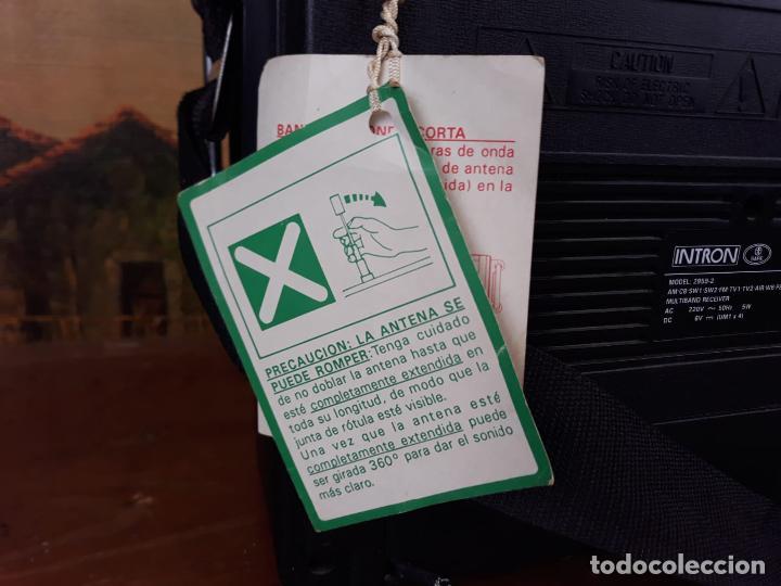 Radios antiguas: Radio intrón antigua com etiqueta - como nueva - Foto 5 - 217108387