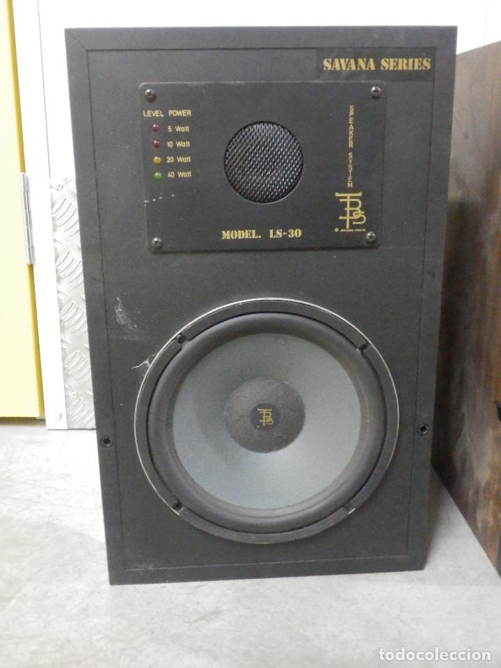 Radios antiguas: Pareja Bafles 80´s - Madera 2 altavoces cada uno - Savana LS 30 - Buen estado - 30 w. - Foto 4 - 242259405