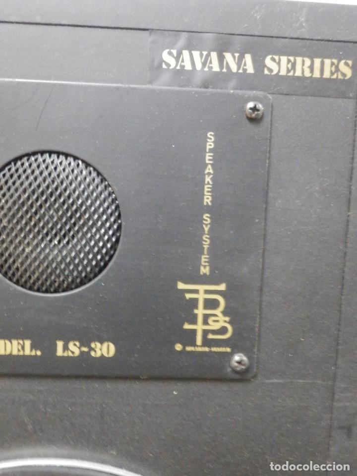Radios antiguas: Pareja Bafles 80´s - Madera 2 altavoces cada uno - Savana LS 30 - Buen estado - 30 w. - Foto 5 - 242259405