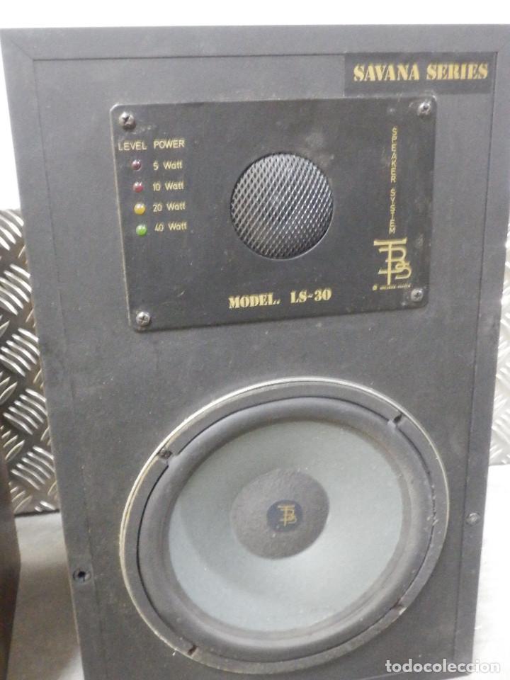 Radios antiguas: Pareja Bafles 80´s - Madera 2 altavoces cada uno - Savana LS 30 - Buen estado - 30 w. - Foto 7 - 242259405