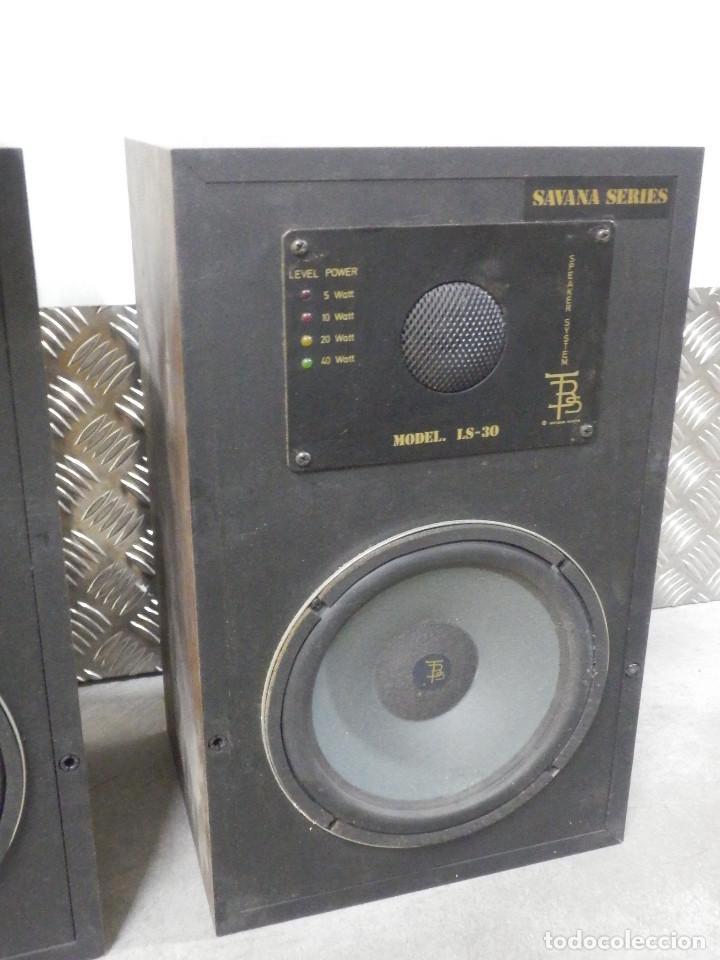 Radios antiguas: Pareja Bafles 80´s - Madera 2 altavoces cada uno - Savana LS 30 - Buen estado - 30 w. - Foto 8 - 242259405