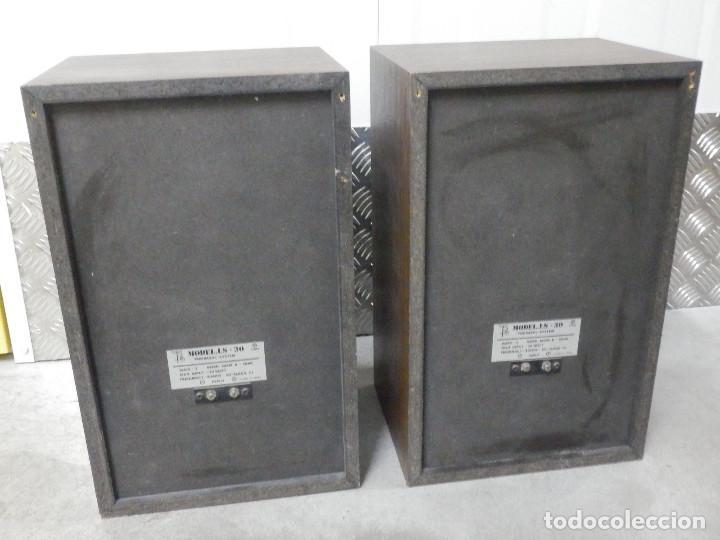 Radios antiguas: Pareja Bafles 80´s - Madera 2 altavoces cada uno - Savana LS 30 - Buen estado - 30 w. - Foto 10 - 242259405