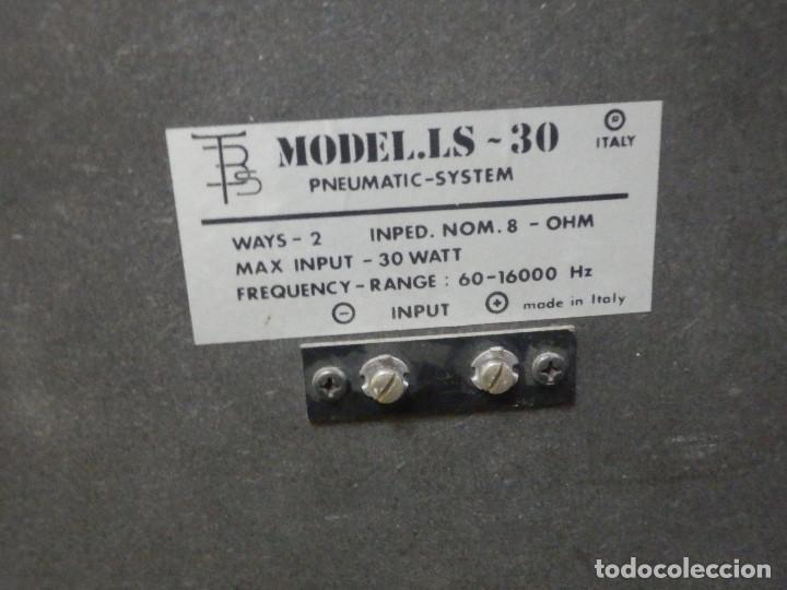 Radios antiguas: Pareja Bafles 80´s - Madera 2 altavoces cada uno - Savana LS 30 - Buen estado - 30 w. - Foto 11 - 242259405