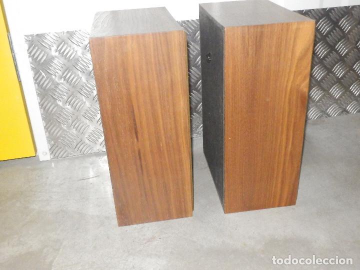 Radios antiguas: Pareja Bafles 80´s - Madera - conexión punto raya - Sin uso - Basicos - - Foto 3 - 217552652