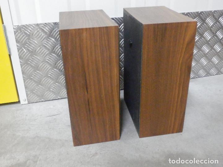 Radios antiguas: Pareja Bafles 80´s - Madera - conexión punto raya - Sin uso - Basicos - - Foto 5 - 217552652