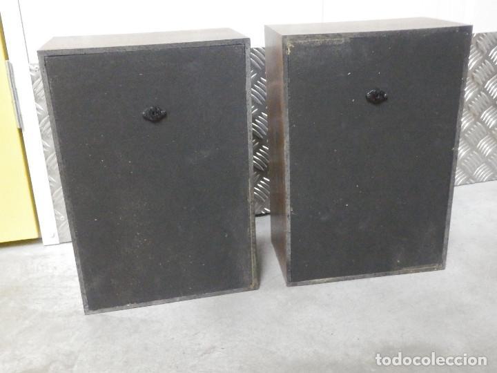 Radios antiguas: Pareja Bafles 80´s - Madera - conexión punto raya - Sin uso - Basicos - - Foto 6 - 217552652