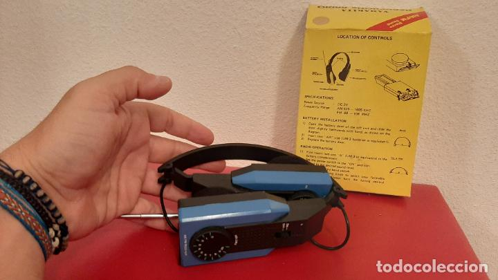 Radios antiguas: RADIO YANAKITA CASCO INTERNATIONAL HP 1000 HEADPHONE AURICULARES TRANSISTOR VINTAGE RETRO DISEÑO - Foto 4 - 217729506