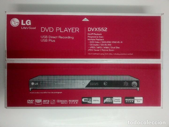 DVD LG DVX 552 NUEVO A ESTRENAR (Radios, Gramófonos, Grabadoras y Otros - Transistores, Pick-ups y Otros)