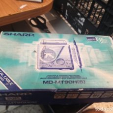 Radios antiguas: MINIDISC DIGITAL RECORDING MARCA SHARP. MD-MT9OH GRIS METSLIZADO. Lote 218004053