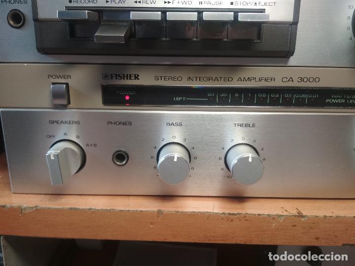 Radios antiguas: AMPLIFICADOR VINTAGE FISHER CA 3000 PERFECTO ESTADO Pepeto Electronica ver video - Foto 7 - 218549528
