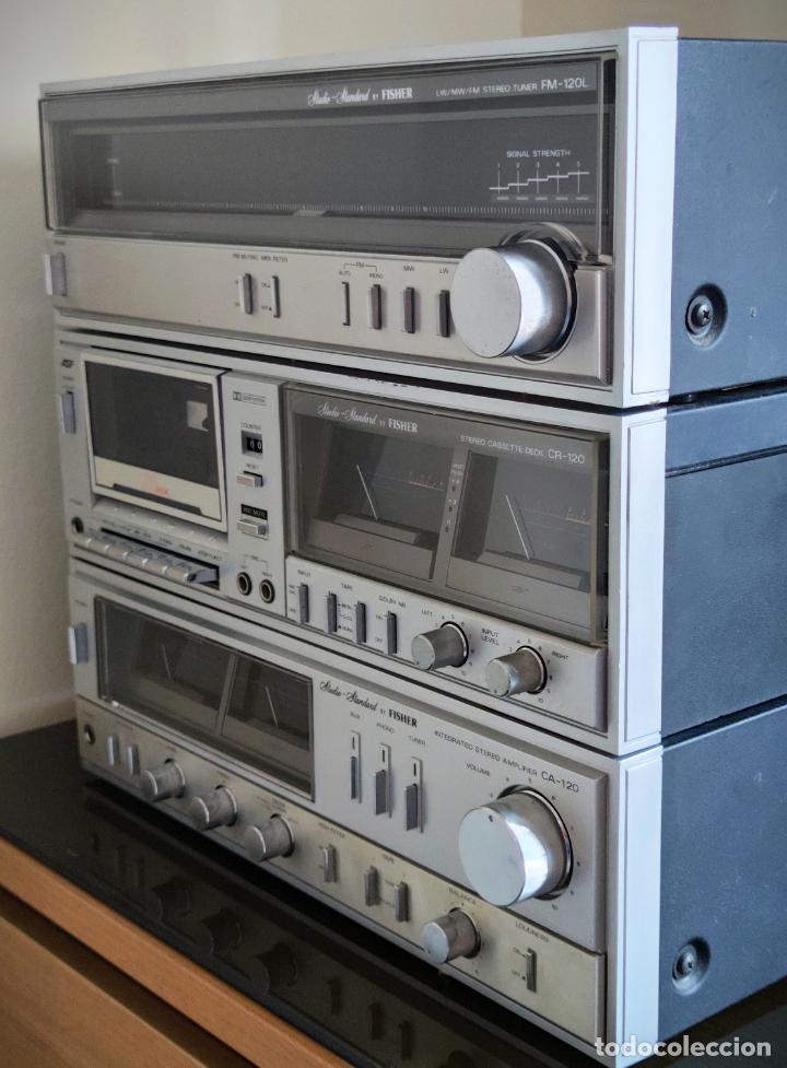 Radios antiguas: EQUIPO FISHER COMPLETO AMPLIFICADOR C-120 SINTONIZADOR RADIO FM-120L Y CASSETTE CR-120 - Foto 2 - 218696708
