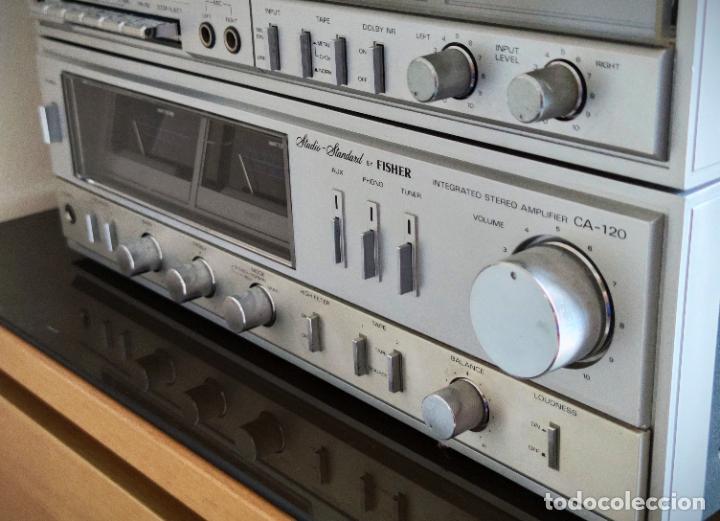 Radios antiguas: EQUIPO FISHER COMPLETO AMPLIFICADOR C-120 SINTONIZADOR RADIO FM-120L Y CASSETTE CR-120 - Foto 3 - 218696708