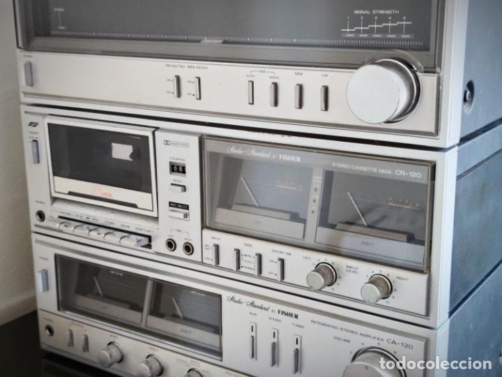 Radios antiguas: EQUIPO FISHER COMPLETO AMPLIFICADOR C-120 SINTONIZADOR RADIO FM-120L Y CASSETTE CR-120 - Foto 4 - 218696708