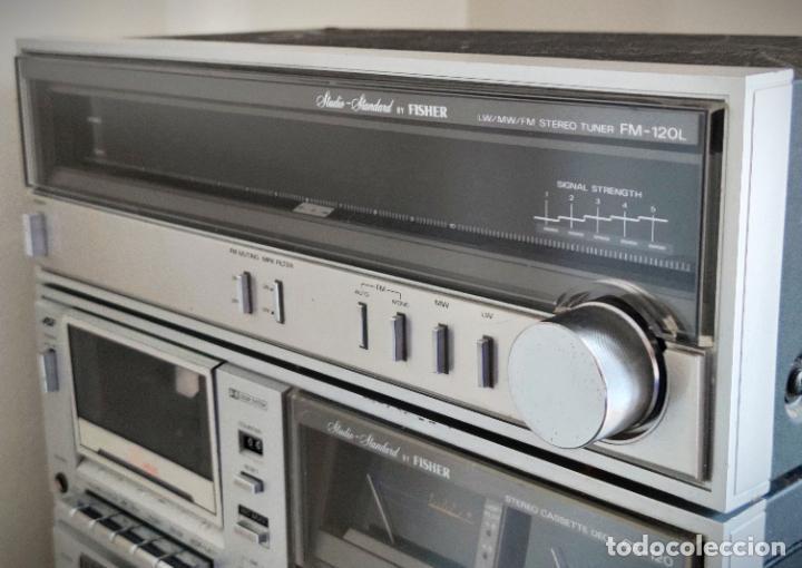 Radios antiguas: EQUIPO FISHER COMPLETO AMPLIFICADOR C-120 SINTONIZADOR RADIO FM-120L Y CASSETTE CR-120 - Foto 5 - 218696708