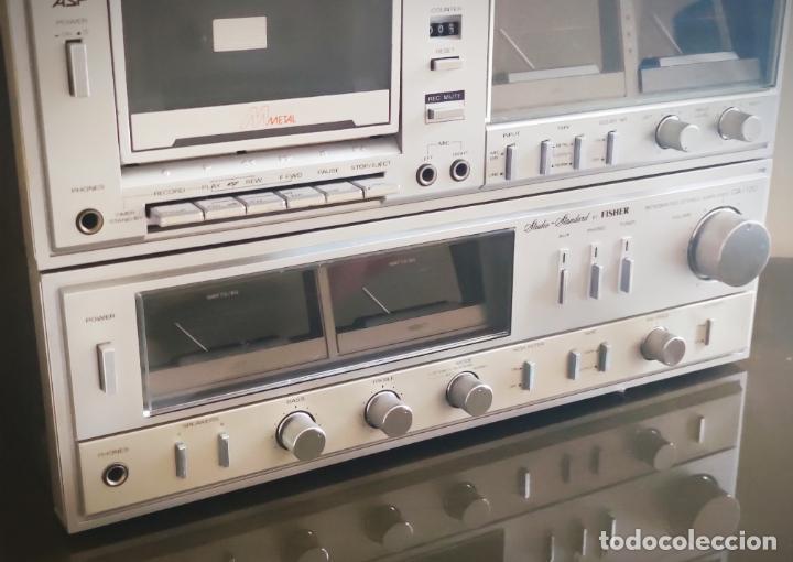 Radios antiguas: EQUIPO FISHER COMPLETO AMPLIFICADOR C-120 SINTONIZADOR RADIO FM-120L Y CASSETTE CR-120 - Foto 6 - 218696708