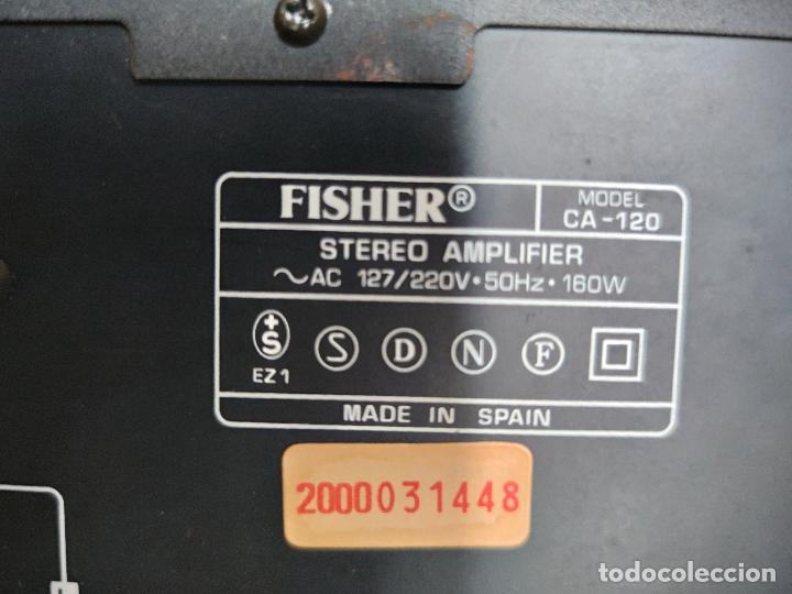 Radios antiguas: EQUIPO FISHER COMPLETO AMPLIFICADOR C-120 SINTONIZADOR RADIO FM-120L Y CASSETTE CR-120 - Foto 12 - 218696708