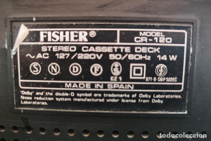 Radios antiguas: EQUIPO FISHER COMPLETO AMPLIFICADOR C-120 SINTONIZADOR RADIO FM-120L Y CASSETTE CR-120 - Foto 14 - 218696708