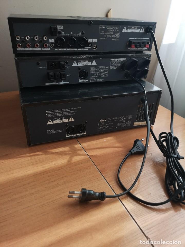 Radios antiguas: conjunto audio amplificador aiwa modular Amplificador mx-80 Tunner tx-60 Pletina fx-w60 - Foto 2 - 218748626