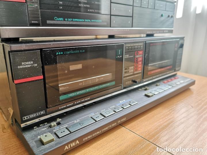 Radios antiguas: conjunto audio amplificador aiwa modular Amplificador mx-80 Tunner tx-60 Pletina fx-w60 - Foto 5 - 218748626