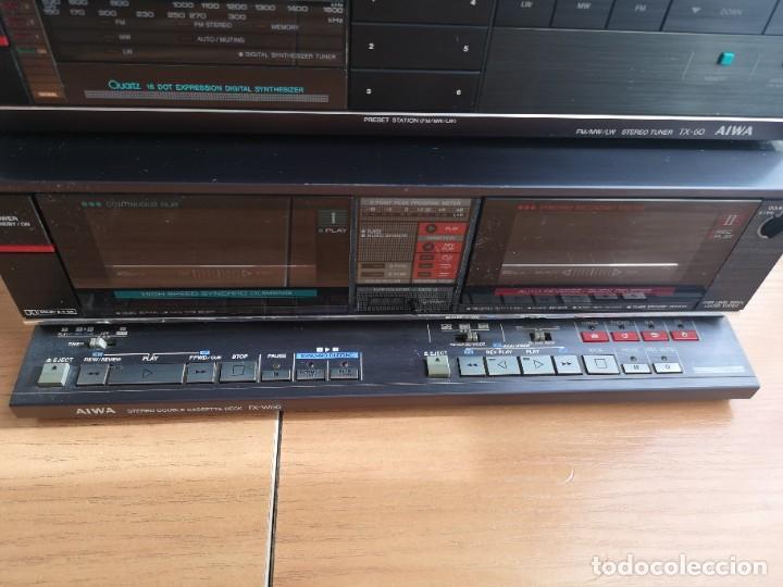 Radios antiguas: conjunto audio amplificador aiwa modular Amplificador mx-80 Tunner tx-60 Pletina fx-w60 - Foto 6 - 218748626