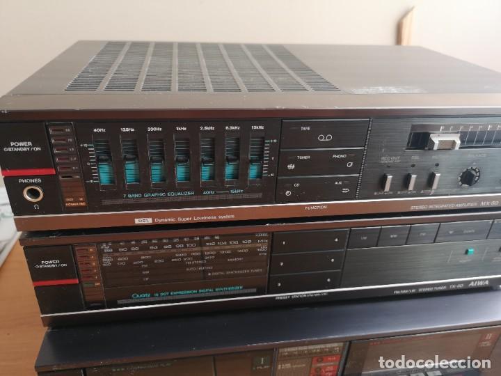 Radios antiguas: conjunto audio amplificador aiwa modular Amplificador mx-80 Tunner tx-60 Pletina fx-w60 - Foto 7 - 218748626