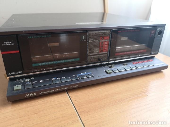 Radios antiguas: conjunto audio amplificador aiwa modular Amplificador mx-80 Tunner tx-60 Pletina fx-w60 - Foto 14 - 218748626