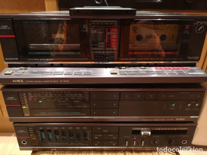 Radios antiguas: conjunto audio amplificador aiwa modular Amplificador mx-80 Tunner tx-60 Pletina fx-w60 - Foto 18 - 218748626