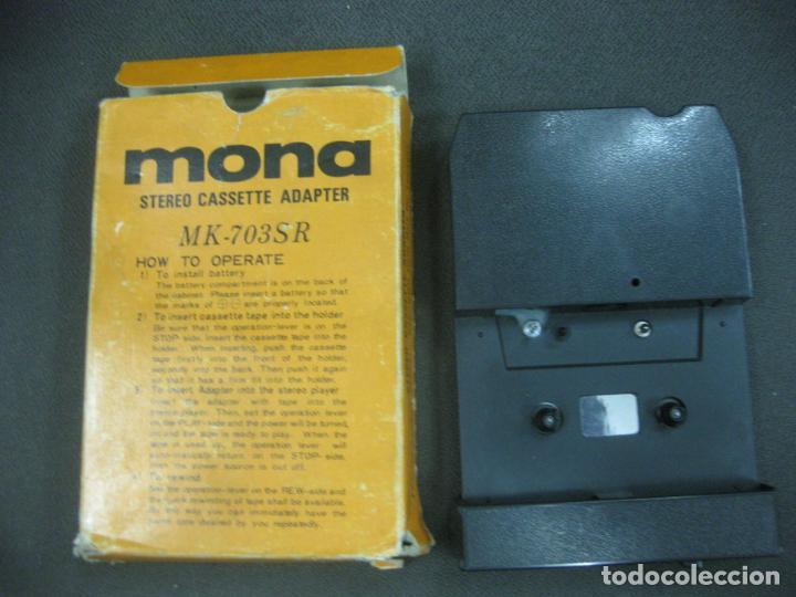 MONA STEREO CASSETTE ADAPTER. MK-703SR. (Radios, Gramófonos, Grabadoras y Otros - Transistores, Pick-ups y Otros)