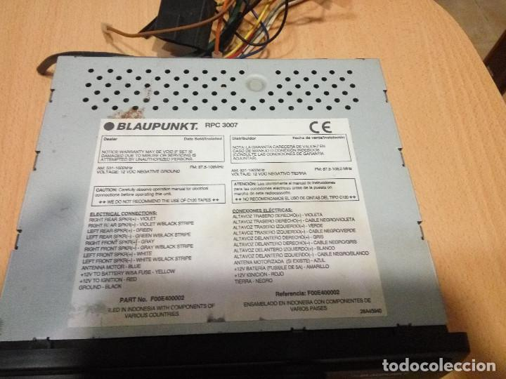 Radios antiguas: RADIO CASSETTE DE COCHE BLAUPUNKT RPC 3007 - Foto 2 - 218925301
