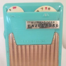 Radios antiguas: RADIO 6 - TRANSISTOR UNIVERSAL MODELO PTR- 62B PORTÁTIL. EN FUNCIONAMIENTO, A PILA.. Lote 219433672