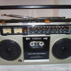 Radios antiguas: RADIO CASSETTE AÑOS 80 TOBISHI. Lote 219552282