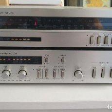 Radios antiguas: AMPLIFICADOR TECHNICS SU-Z11 + SINTONIZADOR RADIO ST-Z11L COMO NUEVOS FABRICADO AÑO 82 HIFI. Lote 220473560