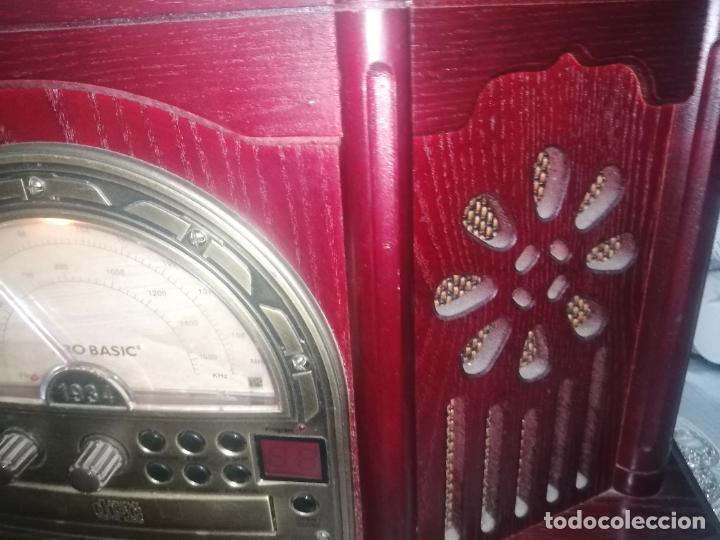 Radios antiguas: Radio Cassette/CD/Tocadisco/ Pro basic 1934 model no: CL102 - Foto 3 - 220699982
