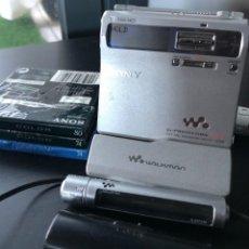 Rádios antigos: SONY PORTABLE MINI DISC RECORDER MZ N1 WALKMAN PORTATIL GRABADOR / REPRODUCTOR REGALO CINTAS NUEVAS. Lote 221277232
