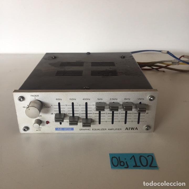 AIWA MODEL AE 202 Y - EQUALIZZATORE GRAFICO - CAR AUDIO (Radios, Gramófonos, Grabadoras y Otros - Transistores, Pick-ups y Otros)