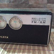 Radios antiguas: BELCOR 9 TRANSISTOR 2 BAND FM-AM PLATA TR-2003 - RARA. Lote 221612921